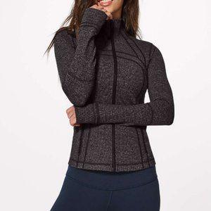 Lululemon Knit Heathered Black Define Jacket